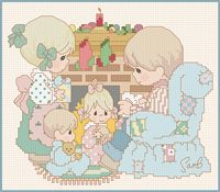 Lots of free cross stitch patterns. Precious Moments