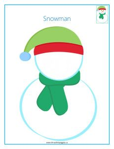 Snowman playdough mat