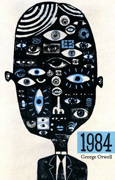 1984 cover book by Ben Jones (entry for the 50 Watts' Polish Book Cover Contest)
