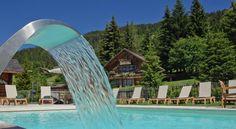 La belle piscine de l'hôtel la Croix-Fry Manigod