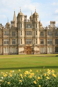 Burghley House is a grand 16th-century country house near to Stamford, Lincolnshire, England. Its park was laid out by Capability Brown.