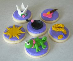 Rapunzel Cupcake and Cookie Toppers