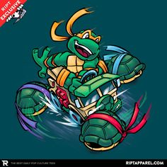 Super Mikey Kart T-Shirt - TMNT T-Shirt is $11 today at Ript!