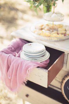 vintage dessert trays