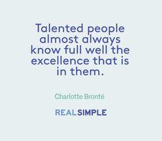 Inspiring words from Charlotte Brontë.