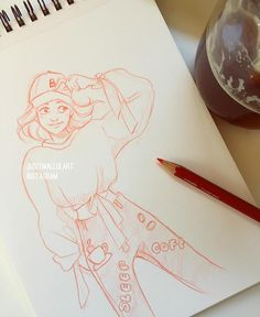 """299 Likes, 2 Comments - Judit Mallol (@juditmallolart) on Instagram: """"Midday break sketch~ my drawing looks just as over caffeinated as i am """""""