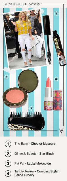 Consigue el increíble look de Hilary Duff con estos productos. #TheBalm #PaiPai #TangleTeezer #Makeup #GetTheLook #ConsigueElLook #Moda #Belleza