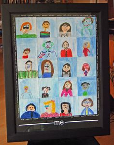Silent Auction Class Project Ideas | Class project ideas for Dinner auction / self portraits by 3rd graders ...