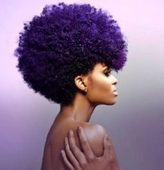 For All The Times We Rocked Purple In Our Hair And Loved It - [Gallery]  Read the article here - http://www.blackhairinformation.com/general-articles/playlists/times-rocked-purple-hair-loved-gallery/