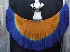 DIp Dye 25 yard skirt Copper Blue by MagicalFashions57 on Etsy, $85.00