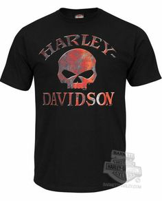 Harley-Davidson Mens Rusty Willie G Skull Faster Black Short Sleeve T-Shirt #HDNaughtyList