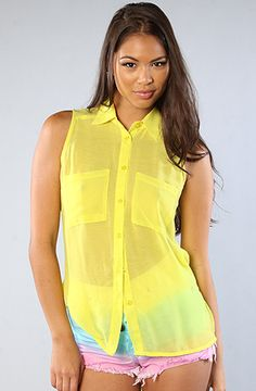 #Karmaloop The Tie Me Down Top in Neon Yellow by *NYC Boutique  Use rep code:XLOOP for 20% off  Retail:$52.00