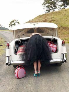 Luggage, Vintage Cars & Tulle