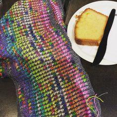 Admiring Debbie's crochet scarf at knit night! Isn't it pretty! #crochetersofinstagram #crochet by gingerbreadbunny