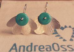 Andrea Osses. Turquoise silver 950  earrings. 2015