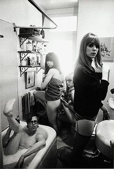Bruce Conner (in tub), Toni Basil, /Teri Garr and Ann Marshall, 1964 by Dennis Hopper