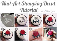 : Nail Art Stamping Decal Tutorial