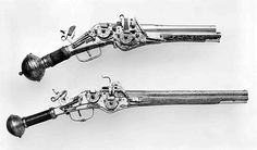 Double-barreled, double-wheellock pistol