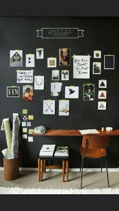chalkboard wall office space.