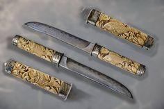 Резное.ру - Танто- Карпы, Материал: бивень мамонта, серебро, Размеры: --.