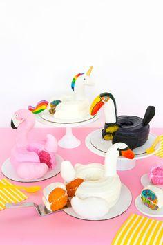 Four DIY Pool Float Cakes!