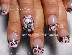 Pink camo tips