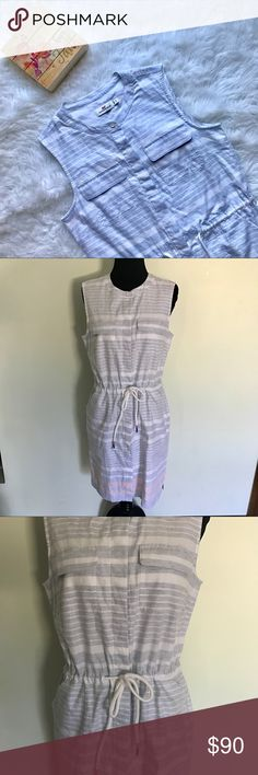 {Vineyard Vines} Multi Border Striped Shirt Dress This comfy shirt dress from Vineyard Vines was from April 2016. Cute light blue and pink nautical stripes. Drawstring waist. Has two breast pockets and two side pockets. So soft! Feels as if it's never been worn. Size 4.   🌸MEASUREMENTS & MATERIAL: 🌸 Bust: 17.5 inches 🌸 Waist: 17 inches (with drawstring untied) 🌸 Dress length: 35 inches 🌸 100% cotton 🌸Feel free to ask for a specific measurement! Vineyard Vines Dresses