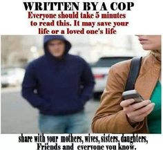 WRITTEN BY A COP: Everyone should take 5 minutes to read this. It may save your life or a loved one's life. In daylight hours, refresh yourself of these things to do in an emergency situation… This is...
