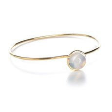 Syna 18 karat yellow gold moon quartz (approximately 7.5cts) large stacking bauble bracelet.  Available for purchase online at www.leonardojewelers.com and  in our Red Bank, NJ and Elizabeth, NJ stores.
