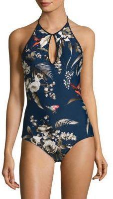 fffdde435b853 Fuzzi Swim Darkness One-Piece Tropical-Print Swimsuit Bathing Suits One  Piece, Bathing