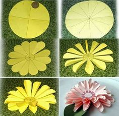 Flores de papel Handprint Flower Craft Spring Craft Preschool craft spring activities Flower crafts with cupcake liners for kıds Spring flower craft for tPaper daisies See lots of ideas of crafts, quilling, waste to best, kids fun,sc. Paper Flowers Craft, Paper Flower Backdrop, Flower Crafts, Diy Flowers, Fabric Flowers, Paper Daisy, Quilled Paper Art, Diy Paper, Giant Paper Flowers
