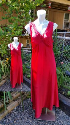 Check out this item in my Etsy shop https://www.etsy.com/listing/232963954/luxury-red-negligee-size-large-14-16