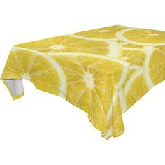 WOZO Rectangular Fresh Yellow Lemon Tablecloth Table Cloth Cover For Home  Decor Dinner Kitchen Party Picnic