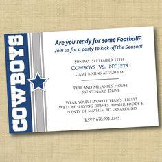 3ffccb3f6150367158a9681eb2fa1902 cowboy birthday party birthday parties dallas cowboys football birthday invitation digital file,Dallas Cowboys Birthday Invitations