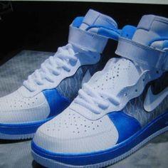 meet fe5af 9d7f3 Air Force 1 Nike Af1, Nike Flyknit, Shoe Game, Blue Sneakers, Sneakers