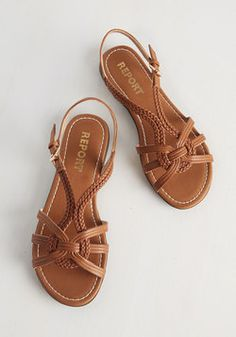 Sale - Braid for Walkin' Sandal in Cognac