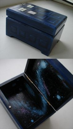 Tardis wood box--would be awesome for an ottoman, too!