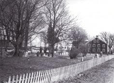Poor house behind the burying ground. 1980.