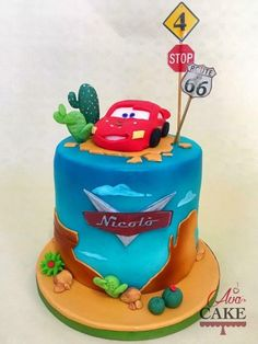 How to make Lightning Mcqueen fondant figure by easyrecepti