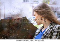 Girl with an umbrella in the rain - stock photo Wayfarer, Sunglasses Women, Rain, Stock Photos, Style, Fashion, Rain Fall, Swag, Moda