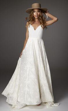 Featured Dress: Rue de Seine; Wedding dress idea.