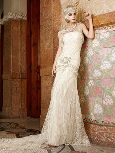 YolanCris | Vestidos de novia vintage para novias vintage por YolanCris