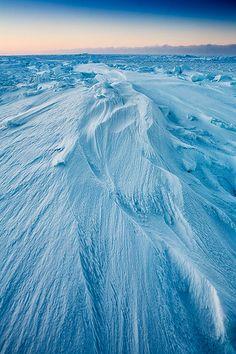 Frozen Chukchi Sea, Barrow Alaska - We walked ON the Arctic Ocean in Barrow. VERY interesting experience.