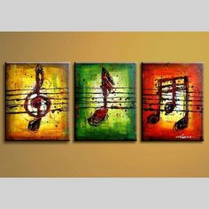 Handmade Paintings Hand Painted Colorful Music Note Art Oil Painting Modern Abstract Canvas Decoration Home Wall Picture Music Painting, Music Canvas, Art Painting Oil, 3 Piece Wall Art, Music Notes Art, Art, Huge Wall Art, Abstract, Canvas Painting