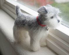 Custom Pet Portrait Needle Felted Dog by JanetsNeedleFelting