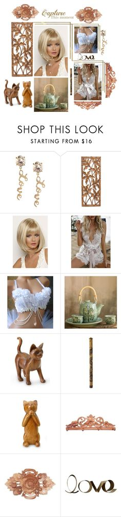 """""""Isn't she lovely!"""" by lawvel ❤ liked on Polyvore featuring BCBGeneration, NOVICA, WithChic and PBteen"""