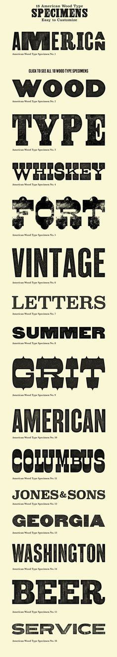 American Wood Type - Actions by Dustin Lee: