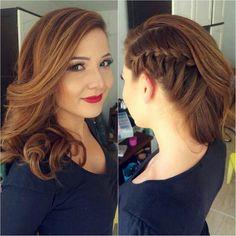 Produção de sábado! Um prazer participar da produção dessa linda, novamente! ❤ #braids #penteados #bride #estyle #fotografia #glam #hairstyle #hair #makeupforever #noivas #nails #nature #penteados #sunset #sun #tranças