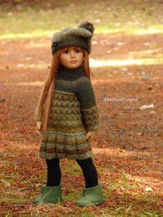 OOAK-Hand-Knitted-Fall-Dress-Beret-for-Kidz-n-Cats-dolls-by-Debonair-Designs