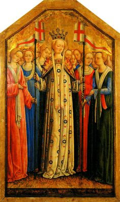 from the tryptic of St. Ursula by Antonio Vivarini, ca.1450s